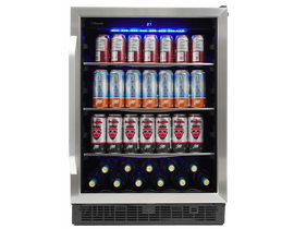 "Silhouette Riccotta Series 24"" Single Zone Beverage Center in Stainless Steel SBC057D1BSS"