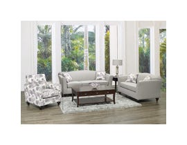Sofa by Fancy Violet 3-Piece Fabric Living Room Set in Beige 2400