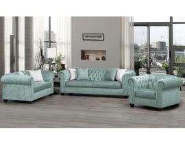 SBF Upholstery Mia 3pc Fabric Sofa Set in Mist/TP Mist 2525