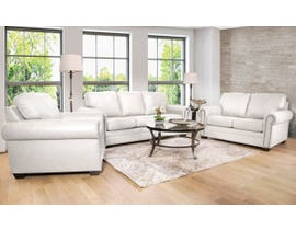 SBF Upholstery 3pc Leather Sofa Set in Bisque 7557