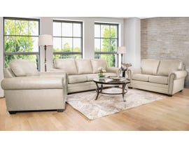 SBF Upholstery 3pc Leather Sofa Set in Ice 7557