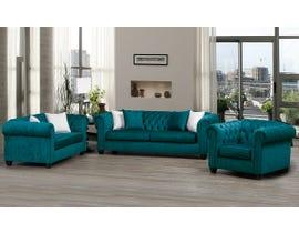 SBF Upholstery Mia 3pc Fabric Sofa Set in Blue Ridge/TP Blue Ridge 2525