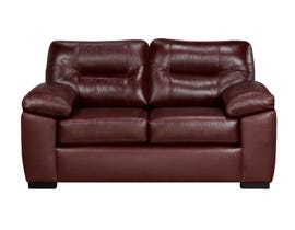 SBF Upholstery Zurick Leather Loveseat in Brown 4060