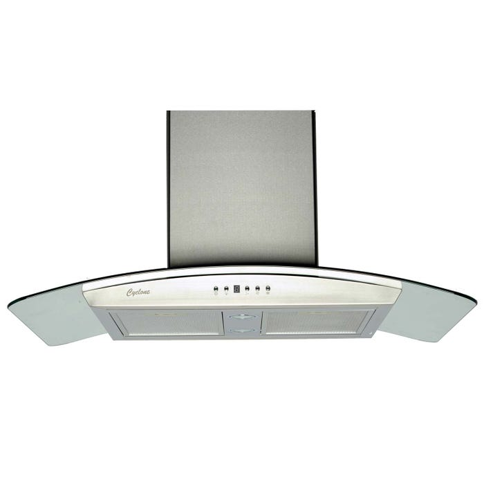 Cyclone 36 inch Vented 550 CFM  Canopy Hood Stainless Steel SC50136
