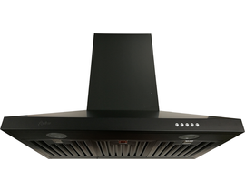 """Cyclone 36"""" 550CFM Alito Collection with Wall Mount Range Hood in Matte Black SCB51636MB"""
