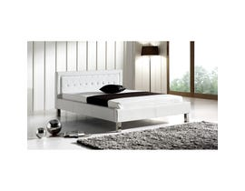 Sinca Scherzo Platform Bed in White M1679