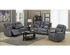 Amalfi Home Furniture 3-Piece Leather Gel Sofa Set in Grey JR03
