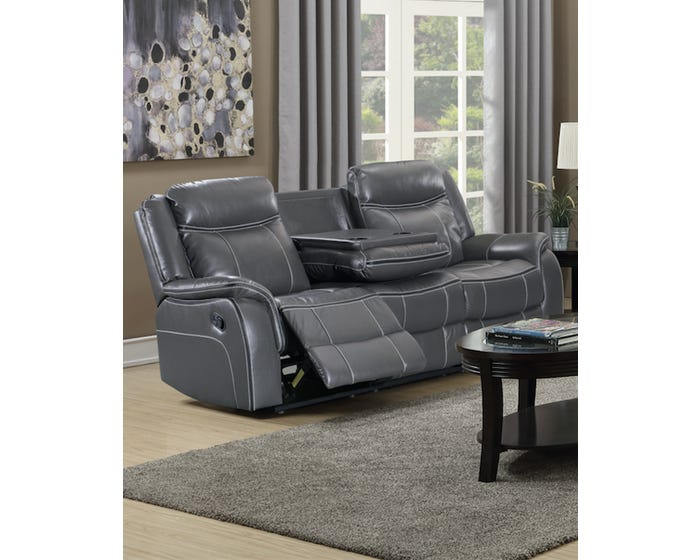 Brilliant Amalfi Home Furniture Leather Gel Reclining Sofa With Drop Tray In Grey Jr03 Dailytribune Chair Design For Home Dailytribuneorg