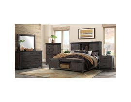 High Society Scott Series 6pc Queen Bedroom Set in Charcoal SC600