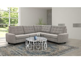 Edgewood Furniture LHF Sectional in Kirkland Platinum 2075