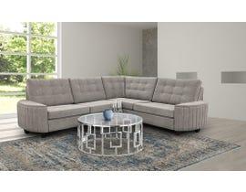 Edgewood Furniture LHF Sectional in Kirkland Platinum 2075