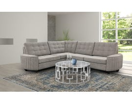 Edgewood Furniture RHF Sectional in Kirkland Platinum 2075