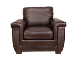Sofa by Fancy Zurick Leather Chair in Cranberry Brown 4395