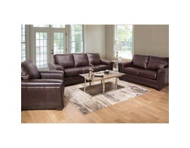 Zurick Collection 3-piece Leather Match Sofa Set in Cranberry Brown 4395