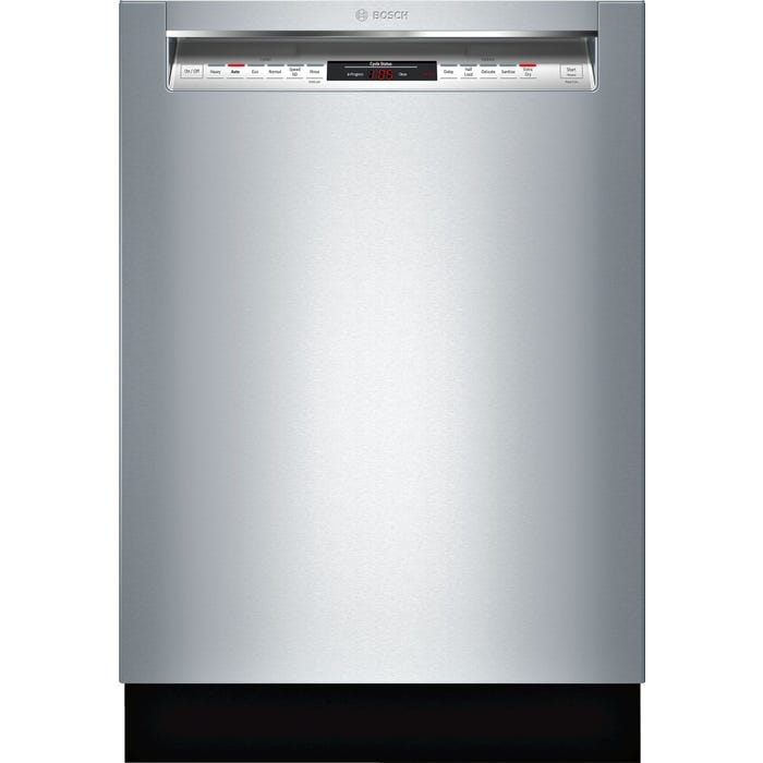 Bosch 24 Inch Recessed Handle Dishwasher in Stainless Steel SHEM78W55N