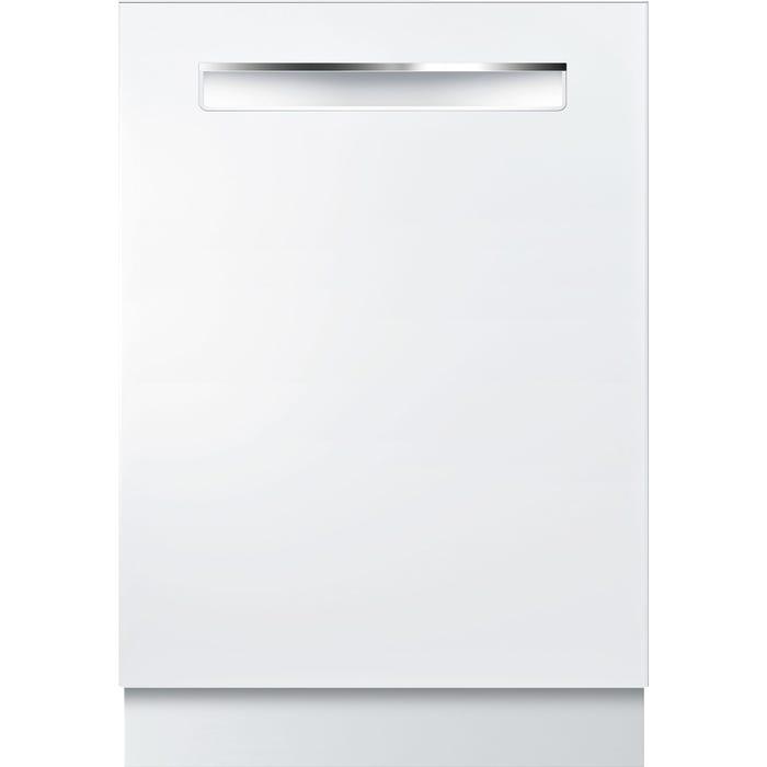 Bosch 24 Inch Flush Handle Dishwasher 500 Series in White SHPM65W52N