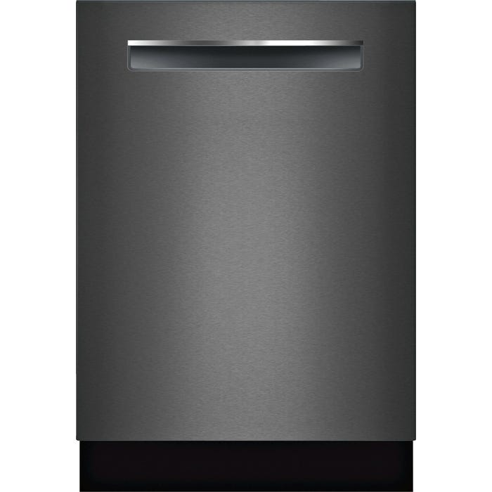 Bosch 24 Inch Flush Handle Dishwasher Black Stainless Steel SHPM78W54N