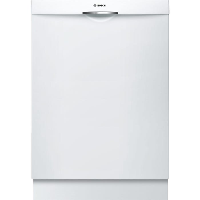 Bosch 24 Inch Scoop Handle Dishwasher in White SHSM63W52N