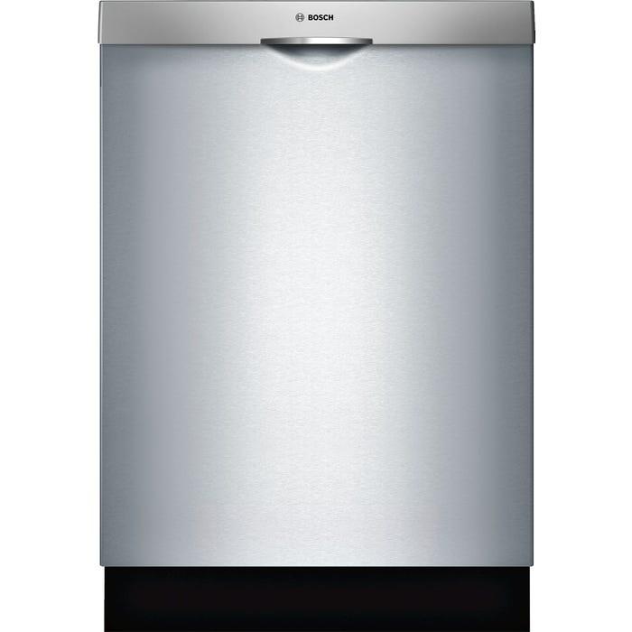 Bosch 24 Inch Scoop Handle Dishwasher in Stainless Steel SHSM63W55N