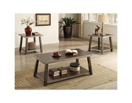 Brassex Indira 3 piece Coffee Table Set Walnut/ Silver SIC271-ESP