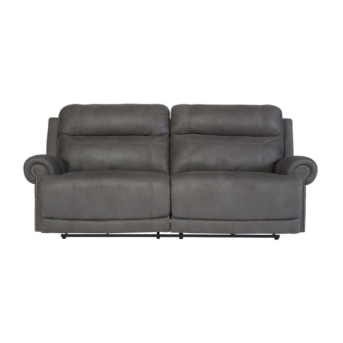 Signature Design by Ashley 2-Seat Reclining Austere Sofa in grey 3840181