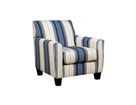Signature Design by Ashley fabric Ayanna Nuvella Accent Chair blue beige multi-colour 9470321