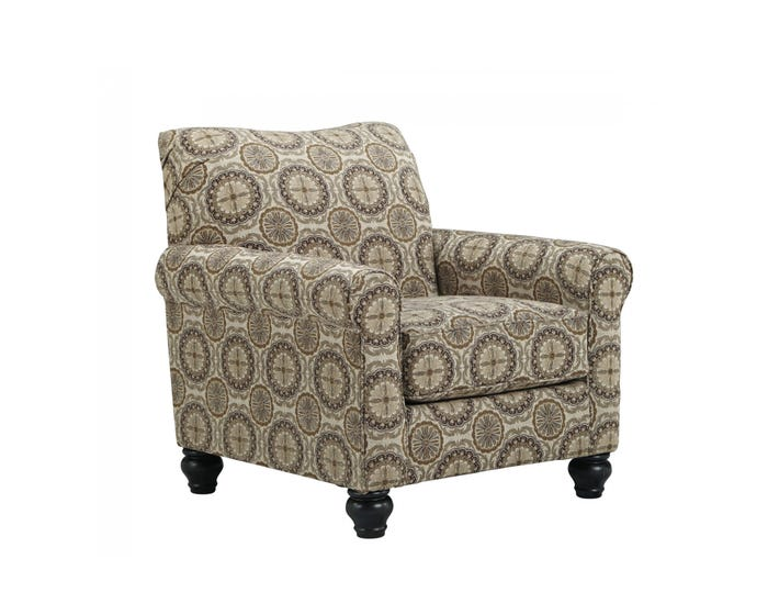 Astounding Signature Design By Ashley Breville Burlap Fabric Accent Chair In Multi Colour Brown 800Xx21 Gmtry Best Dining Table And Chair Ideas Images Gmtryco
