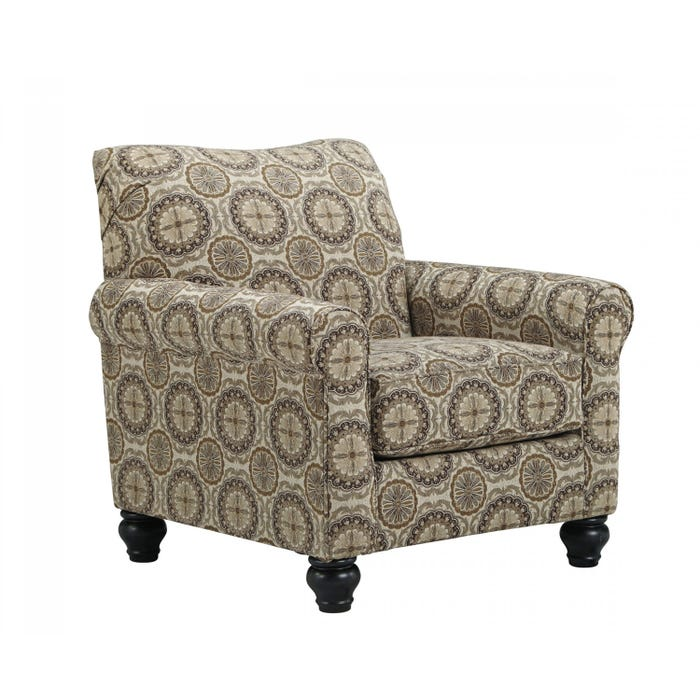 Signature Design by Ashley Breville-Burlap fabric Accent Chair in multi-colour brown 800XX21