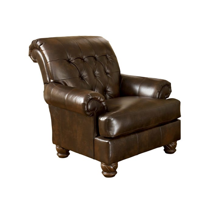 Signature Design by Ashley Fresco DuraBlend faux leather Accent Chair in brown 6310021