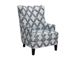 Signature Design by Ashley Fabric LaVernia-Indigo Accent Chair in blue and beige 7130421