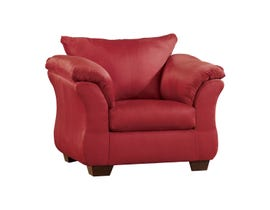 Signature Design by Ashley Darcy Fabric Chair in Salsa Red 7500120