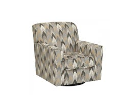 Signature Design by Ashley Braxlin Swivel Fabric Accent Chair in patterned beige multi-colour 8850244