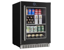 "Silhouette Reserve Series 24"" 5.0 cu. ft. Beverage and Wine Center Left Hinge in Stainless Steel SRVBC050L"