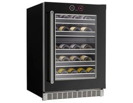 "Silhouette Reserve Series 24"" 5.0 cu. ft. Dual Zone Wine Cellar Left Hinge in Stainless Steel SRVWC050L"