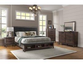 Simcoe Series 6pc Queen Bedroom Set in Walnut SB902A
