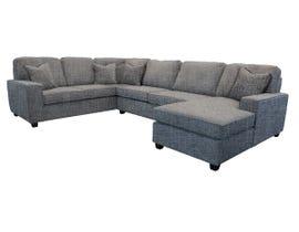 Edgewood Furniture 3pc LHF Sofa Sectional in Safari Slate Grey 2065