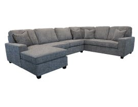 Edgewood Furniture 3pc RHF Sofa Sectional in Safari Slate Grey 2065