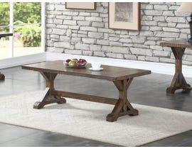 Brassex Jayden Collection Wood Coffee Table in Light Grey TN-275