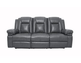 ZHEFU Leather Air Reclining Sofa in Grey M66226