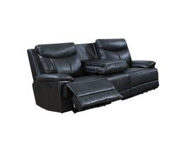 Brassex Power Reclining Sofa in Black SA2600
