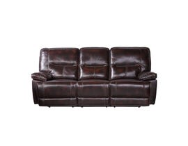 Bradstreet Collection Leather Power Reclining Sofa in Grape