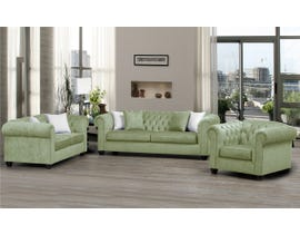 SBF Upholstery Mia 3pc Fabric Sofa Set Sage/ TP Sage 2525
