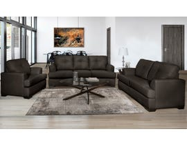 SBF Upholstery Zurick Series 3Pc Leather Match Sofa Set in Chocolate 4145