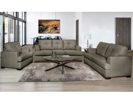 SBF Upholstery Zurick Series 3pc Leather Sofa Set in Cobblestone 4145