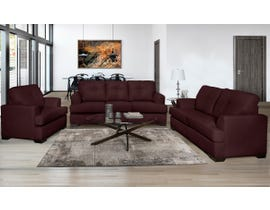 SBF Upholstery Zurick Series 3Pc Leather Match Sofa Set in Cranberry 4145