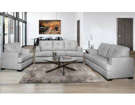 SBF Upholstery Zurick Series 3pc Leather Sofa Set in Steel Grey 4145