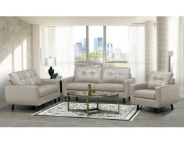 SBF Upholstery 3Pc Fresno Collection Leather Match Sofa Set in Bisque 5543