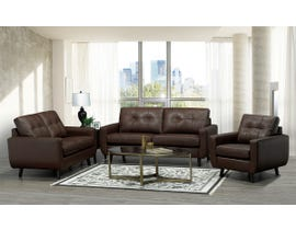 SBF Upholstery 3Pc Fresno Collection Leather Match Sofa Set in Brown 5543