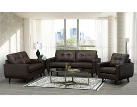 SBF Upholstery 3Pc Fresno Collection Leather Match Sofa Set in Chocolate 5543