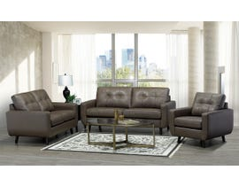 SBF Upholstery 3Pc Fresno Collection Leather Match Sofa Set in Cobblestone 5543